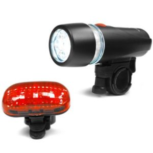 Super Bright 5 LED Headlight, 3 LED Taillight Bicycle